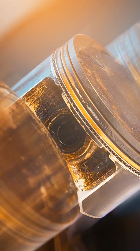 Biopaliwa zaawansowane, tłok, olej